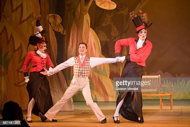 David Ashley Michael Kirk are the pantomime dames playing the role of the ugly sisters in a production of Cinderella at The Hackney Empire in London...