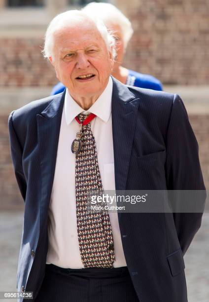 David Attenborough attends Evensong in celebration of the centenary of the Order of the Companions of Honour at Hampton Court Palace on June 13 2017...