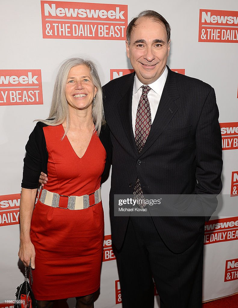 David Axelrod (R) and his wife Susan Landau attend The Daily Beast Bi-Partisan Inauguration Brunch at Cafe Milano on January 20, 2013 in Washington, DC.