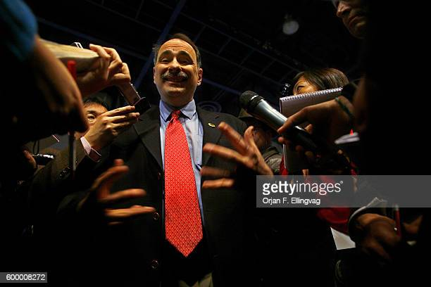 David Axelrod, political advisor to the Barack Obama campaign, speaks to media, after the MSNBC hosted debate between Democratic Presidential...