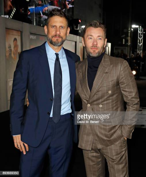 David Ayer and Joel Edgerton attend the European Premeire of 'Bright' held at BFI Southbank on December 15 2017 in London England