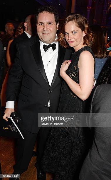 David Babani and Ruth Wilson attend an after party following the Laurence Olivier Awards at The Royal Opera House on April 13 2014 in London England