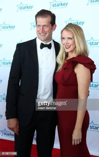 David Backes and Kelly Backes walk the red carpet at the 2017 Starkey Hearing Foundation So the World May Hear Awards Gala at the Saint Paul...