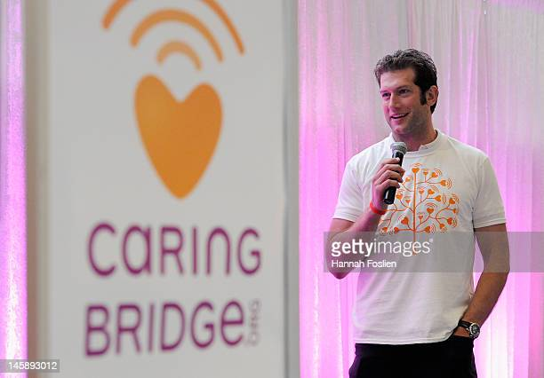 David Backes of the St Louis Blues speaks during the CaringBridgeorg celebration and 15th anniversary and launch of its new services by shattering...
