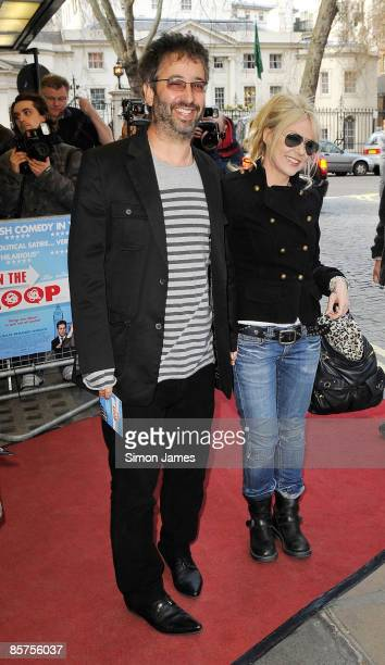 David Baddiel and Morwenna Banks attend the gala premiere of 'In The Loop' at Curzon Mayfair on April 1, 2009 in London, England.
