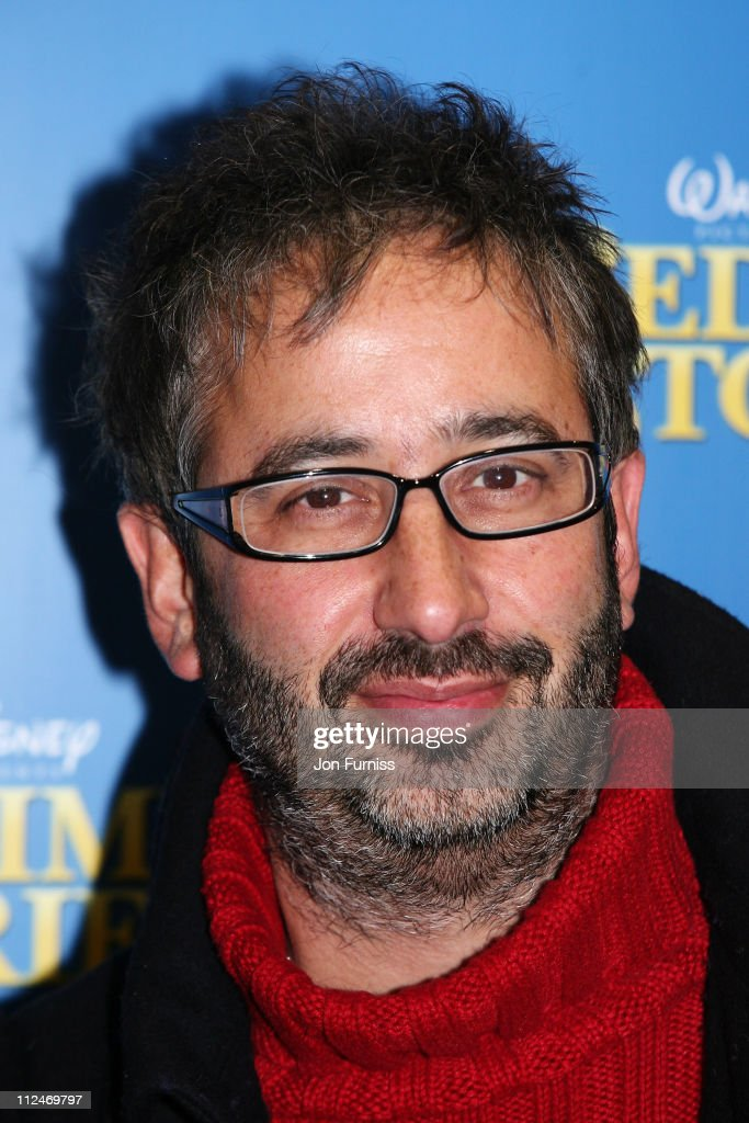David Baddiel arrives at the UK film premiere of 'Bedtime Stories' held at the Odeon Kensington on December 11, 2008 in London, England.