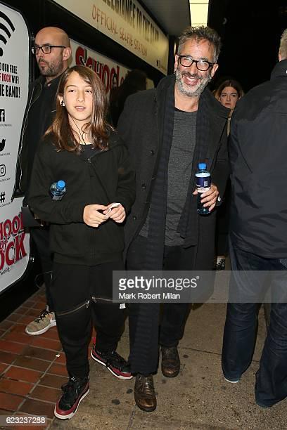 David Baddiel attending the School of Rock the musical VIP press night on November 14, 2016 in London, England.