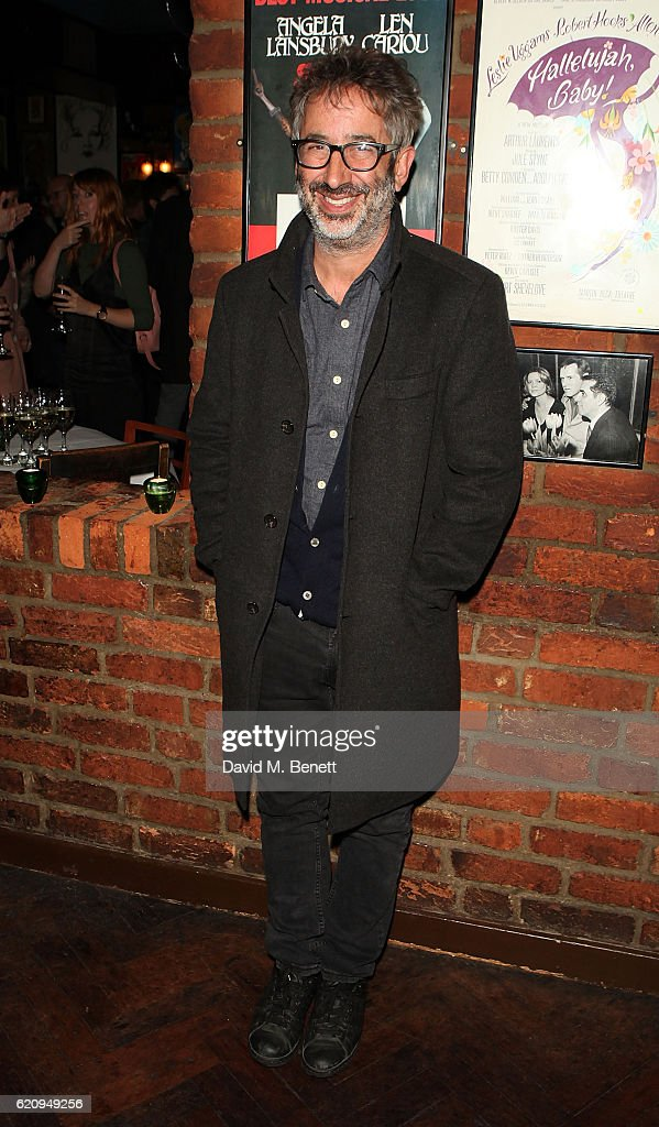 David Baddiel attends the press night after party for 'Dead Funny' at Joe Allen Restaurant on November 3, 2016 in London, England.