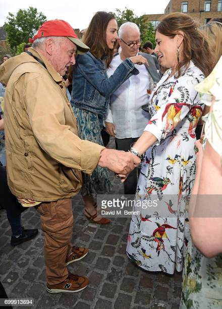David Bailey and Alexandra Shulman attend British Vogue editor Alexandra Shulman's leaving party at Dock Kitchen on June 22 2017 in London England
