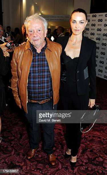 David Bailey and Catherine Bailey arrive at the GQ Men of the Year awards at The Royal Opera House on September 3 2013 in London England
