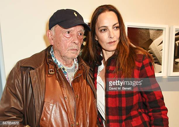 David Bailey and Catherine Bailey attend a private view of 'Terence Donovan: Speed Of Light' at The Photographers' Gallery on July 14, 2016 in...