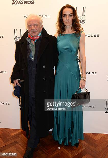 David Bailey and Catherine Bailey attend the Elle Style Awards 2014 at One Embankment on February 18 2014 in London England