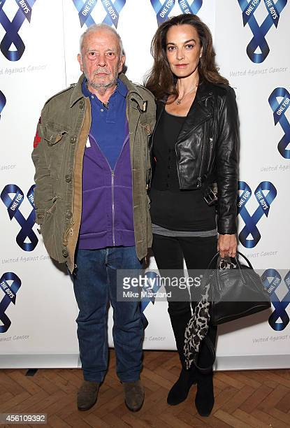 David Bailey and Catherine Dyer attend One For The Boys #SingOne4TheBoys Karaoke Night at Abbey Road Studios on September 25 2014 in London England