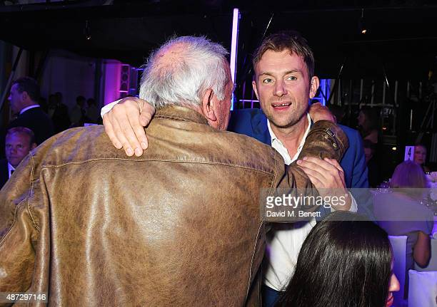 David Bailey and Damon Albarn attend the GQ Men Of The Year Awards at The Royal Opera House on September 8 2015 in London England