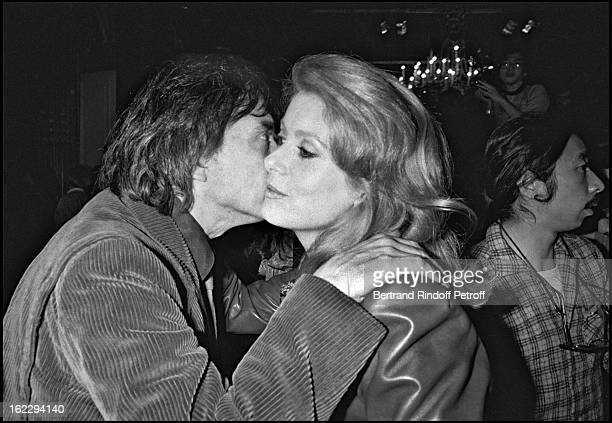 David Bailey and ExWife Catherine attending Yves Saint Laurent Spring/Summer 1983 collection fashion show