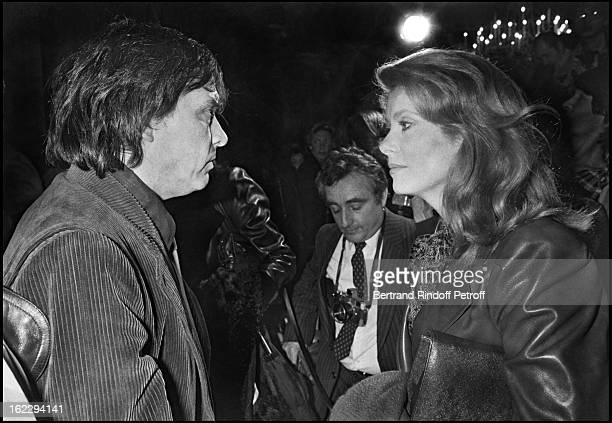 David Bailey and ExWife Catherine attendingYves Saint Laurent Spring/Summer 1983 collection fashion show