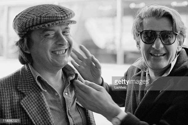 David Bailey and Helmut Newton British and GermanAustralian fashion photographers Monte Carlo Monaco 4th May 1978