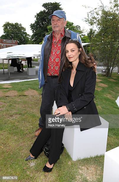 David Bailey and his wife Catherine attend the annual Summer Party at the Serpentine Gallery on July 9 2009 in London England