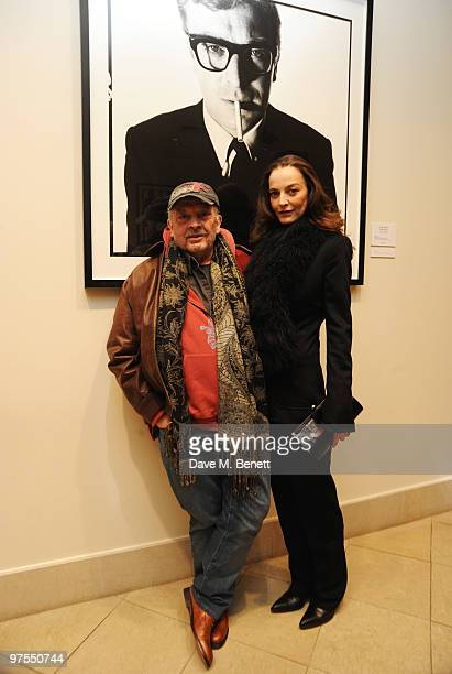 David Bailey and his wife Catherine attend the launch of the new selling exhibition 'Pure Sixties Pure Bailey' showcasing photographs taken by David...