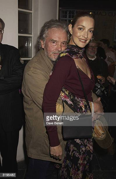 David Bailey and his wife Catherine attend the Rankin and David Bailey book launch at Proud Gallery on May 2 2003 in London