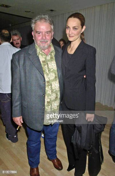 David Bailey and his wife Catherine Bailey attend Mario Testino's Party hosted by Kate Moss at The Sanderson Hotel on July 20 2001 in London