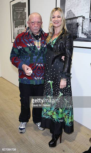 David Bailey and Kate Moss attend the launch of a new limited edition book and exhibition of 'David Bailey NW1' at Heni Publishing gallery on...