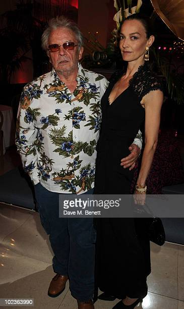 David Bailey and wife Catherine attend the Diane Von Furstenberg and Claridge's launch party at Claridge's on June 23 2010 in London England