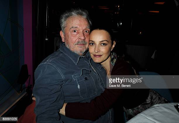 David Bailey and wife Catherine attend the GQ 20th Anniversary Party at St Alban on November 6 2008 in London England