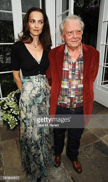 David Bailey and wife Catherine attend the Raisa Gorbachev Foundation Party at Stud House Hampton Court Palace on June 5 2010 in Richmond upon Thames...