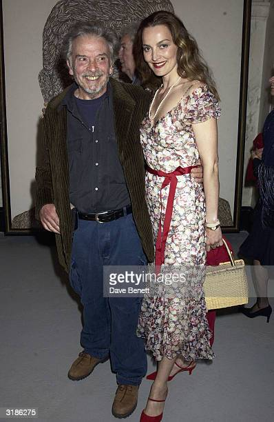David Bailey and wife Catherine attend the Saatchi Gallery Opening in County Hall on April 16 2003 in London