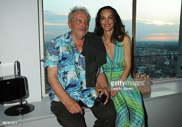 David Bailey and wife Catherine attend the Serpentine Gallery dinner in honour of Jeff Koons at Paramount on June 30 2009 in London England