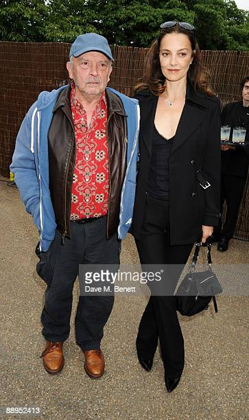 David Bailey and wife Catherine attend the Serpentine Gallery Summer Party at The Serpentine Gallery on July 9 2009 in London England