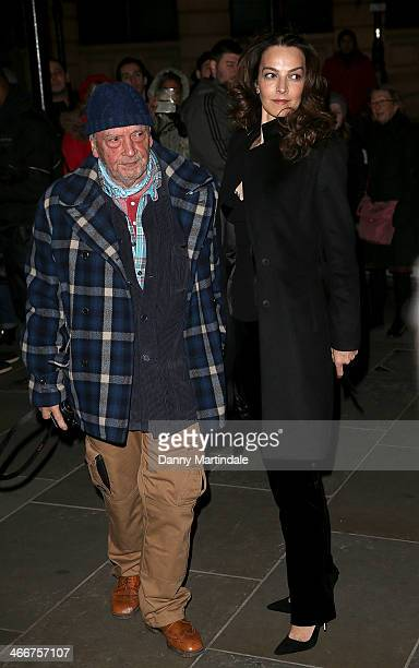 David Bailey and wife Catherine Bailey attend the VIP private view of David Bailey Bailey's Stardust at National Portrait Gallery on February 3 2014...