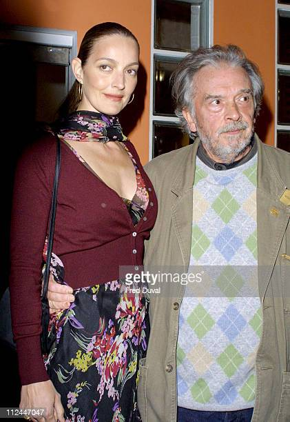 David Bailey and wife Catherine during Down Under Exhibition May 1 2003 at Proud Galleries in London United Kingdom
