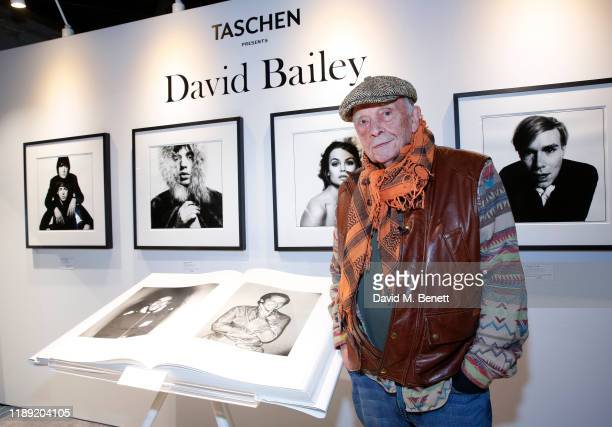David Bailey at the launch of the FLANNELS x TASCHEN popup showcasing the David Bailey SUMO on November 21 2019 in London England