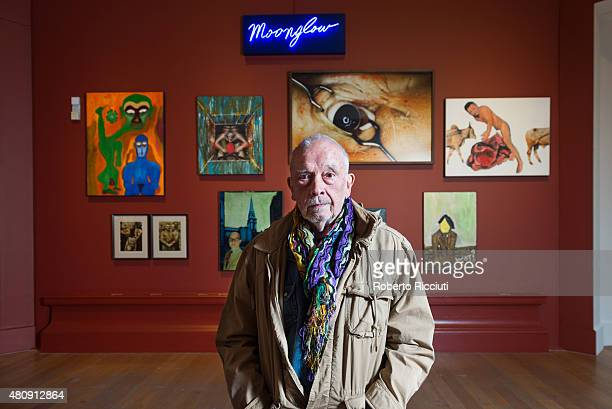 David Bailey attends a press launch of the new exhibition 'Bailey's Stardust' and 'Moonglow' at Scottish National Gallery on July 16 2015 in...