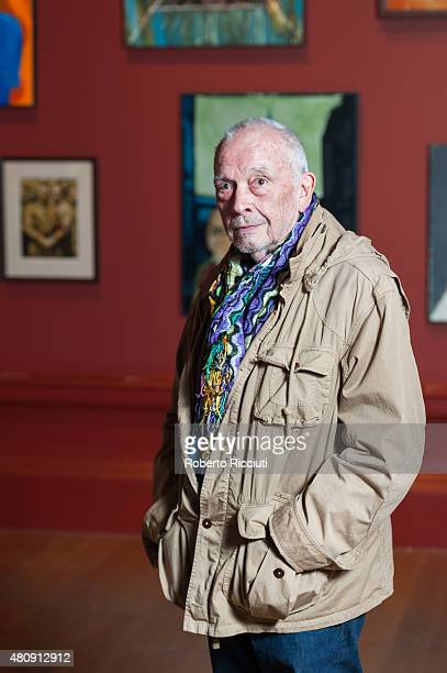 David Bailey attends a press launch of the new exhibition 'Bailey's Stardust' and 'Moonglow' at Scottish National Gallery on July 16, 2015 in...