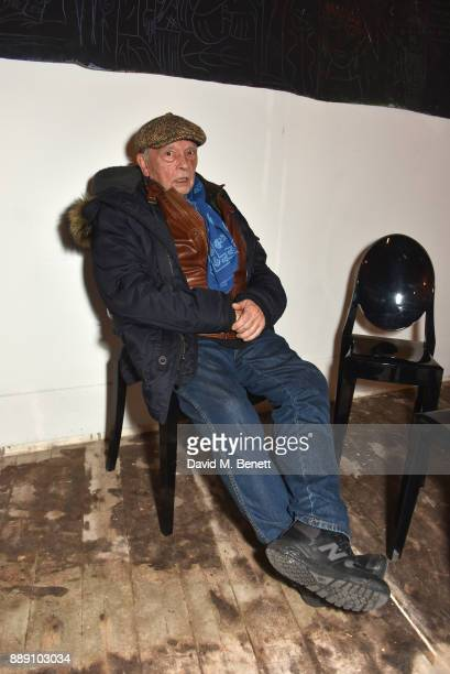 """David Bailey attends a private view of """"Art Alika"""" curated by Quite Useless Art and Abraham Sassoon Munns on December 9, 2017 in London, England."""