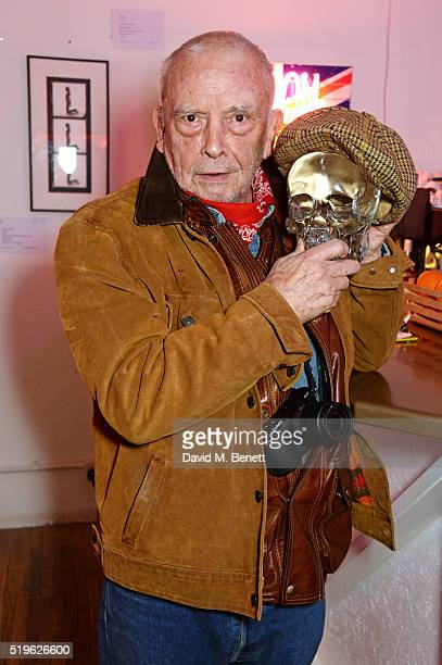 David Bailey attends a private view of Fentoscope Camera Shy presented by Fenton Bailey and supported by Crystal Head Vodka at Lights Of Soho on...