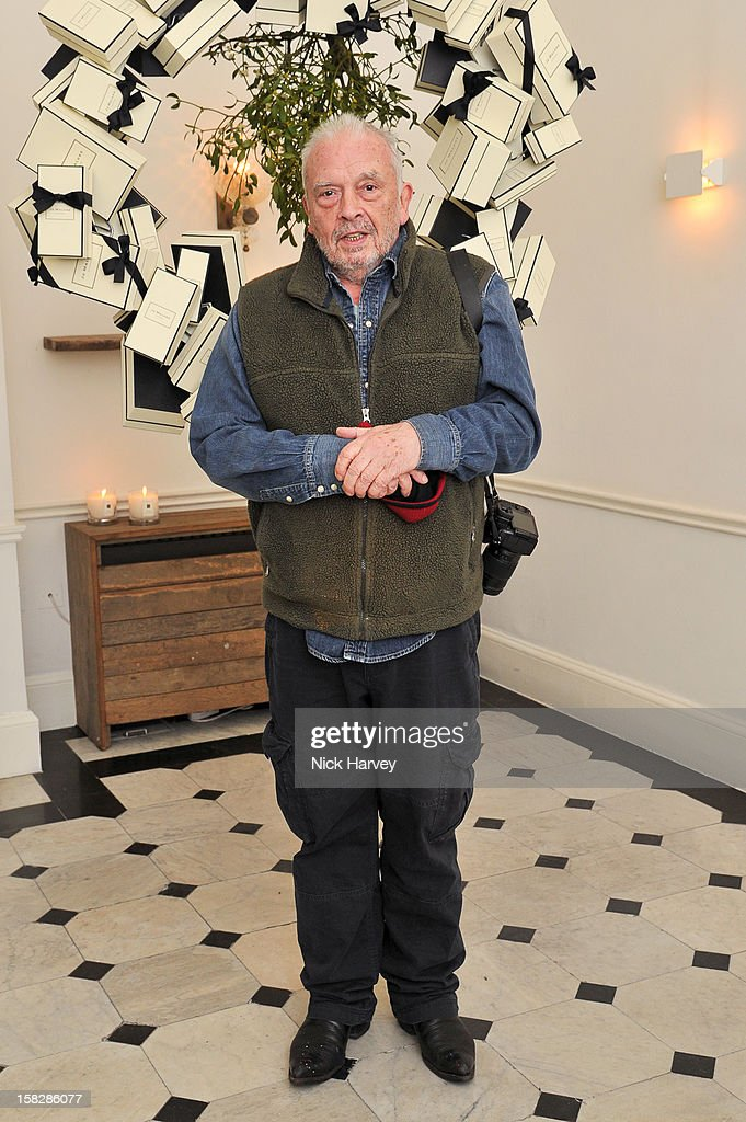David Bailey attends Jo Malone's Thoroughly Proper Party at Jo Malone London, Gloucester Place on December 12, 2012 in London, England.