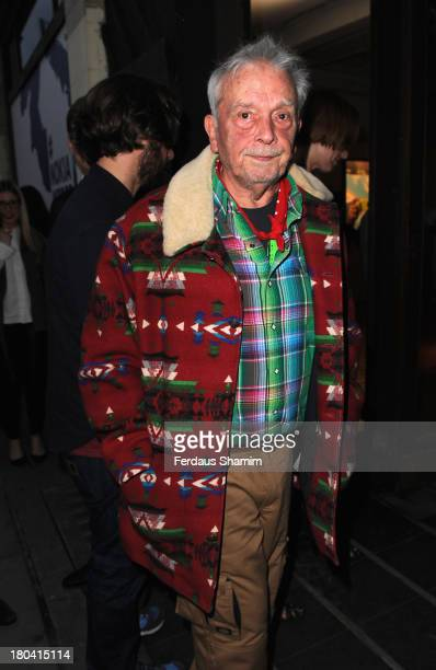 David Bailey attends the Weber X Bailey by Nokia Lumia 1200 private view at Nicholls & Clarke Building on September 12, 2013 in London, England.