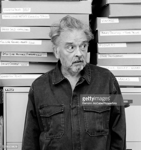 David Bailey, English fashion and portrait photographer, 26th June 2002. Bailey left school at 15, held a number of dead-end jobs, did his National...
