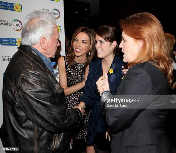 David Bailey Heather Kerzner Princess Eugenie of York and Sarah Ferguson Duchess of York attend the launch of Samsung's NX Smart Camera at a charity...