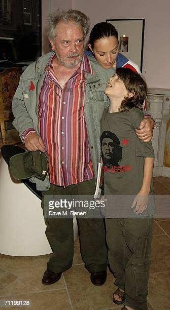 David Bailey his son David and wife Catherine attend Terence Donovan's exhibition 'Women Throooo The Eyes Of Smudger Terence Donovan' at Paul Smith...