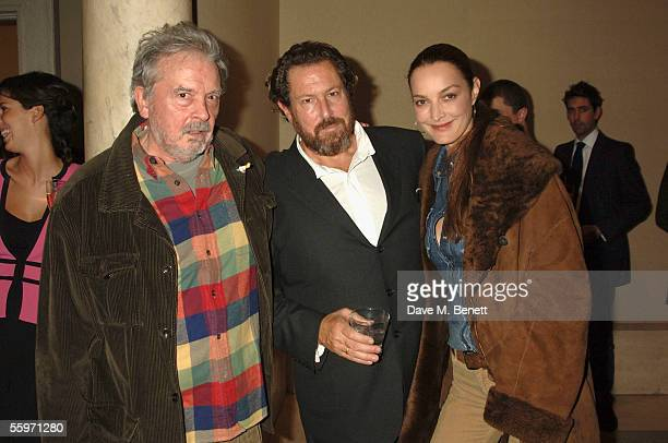 David Bailey Julian Schnabel and Catherine Bailey attend the private view for Julian Schnabel's Pintura Del Figlo XXI his first show in 6 years at 38...