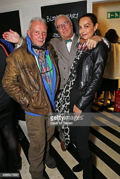 David Bailey Manolo Blahnik and Catherine Bailey attend the launch of Bailey's East End the new book of photography by David Bailey at Clutch on...