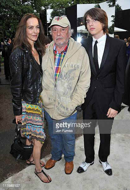 David Bailey with his wife Catherine and son Sasha attend The Serpentine Gallery Summer Party on June 28 2011 in London England
