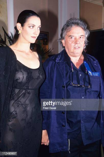 David Bailey with his wife during Strong Elite Premiere Awards - July 1, 1997 at London in London, Great Britain.