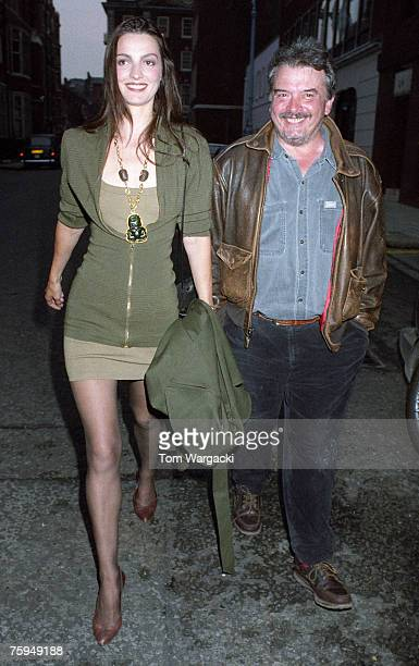David Bailey with wife Catherine Dyer arrive at Hamiltons Gallery on June 5th 1990 in London