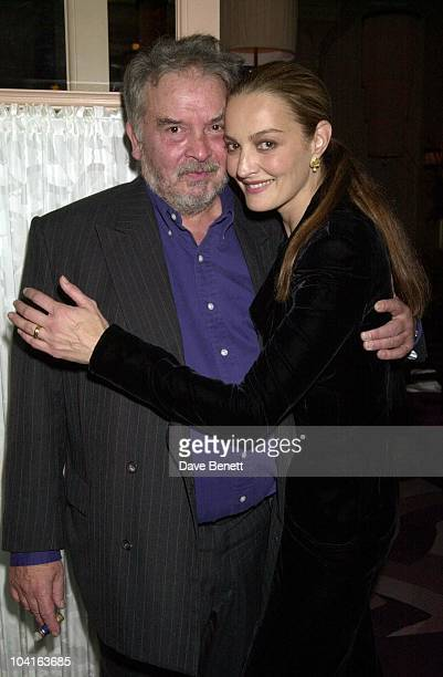 David Bailey With Wife Catherine The Party To Launch David Bailey's New Book Chasing Rainbows hosted By Lucy Yeomans At Gordon Ramsey's Restaurant At...
